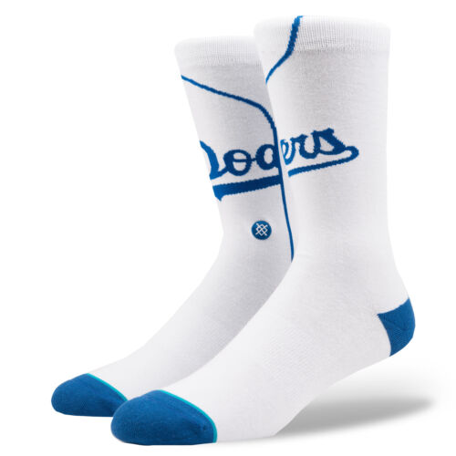 Stance Homme Dodgers Home Chaussettes Blanc Bnwt
