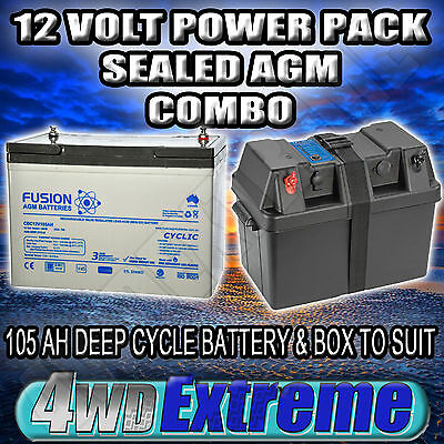 POWER BATTERY BOX 12V 105AH 750CCA,DEEP CYCLE AGM DUAL 100AH PROJECTA BPE330