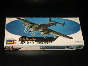 MAQUETTE-Me-110-DESTROYER-REVELL-1-72-MODEL-KIT-COMPLETE