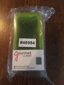 GOURMET-BY-STARFRIT-3-SILICONE-LOAF-PANS-080335-006-0000-NEW-SEALED-FAST-SHIP
