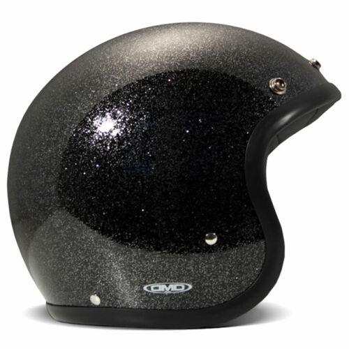 DMD Vintage Glitter Black Motorbike Motorcycle Helmet