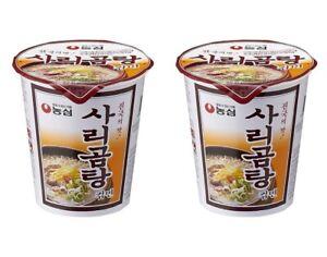 Korean-Instant-Noodle-NONGSHIM-SARIGOMTANG-2pack-Cup-Ramen-Ramyun
