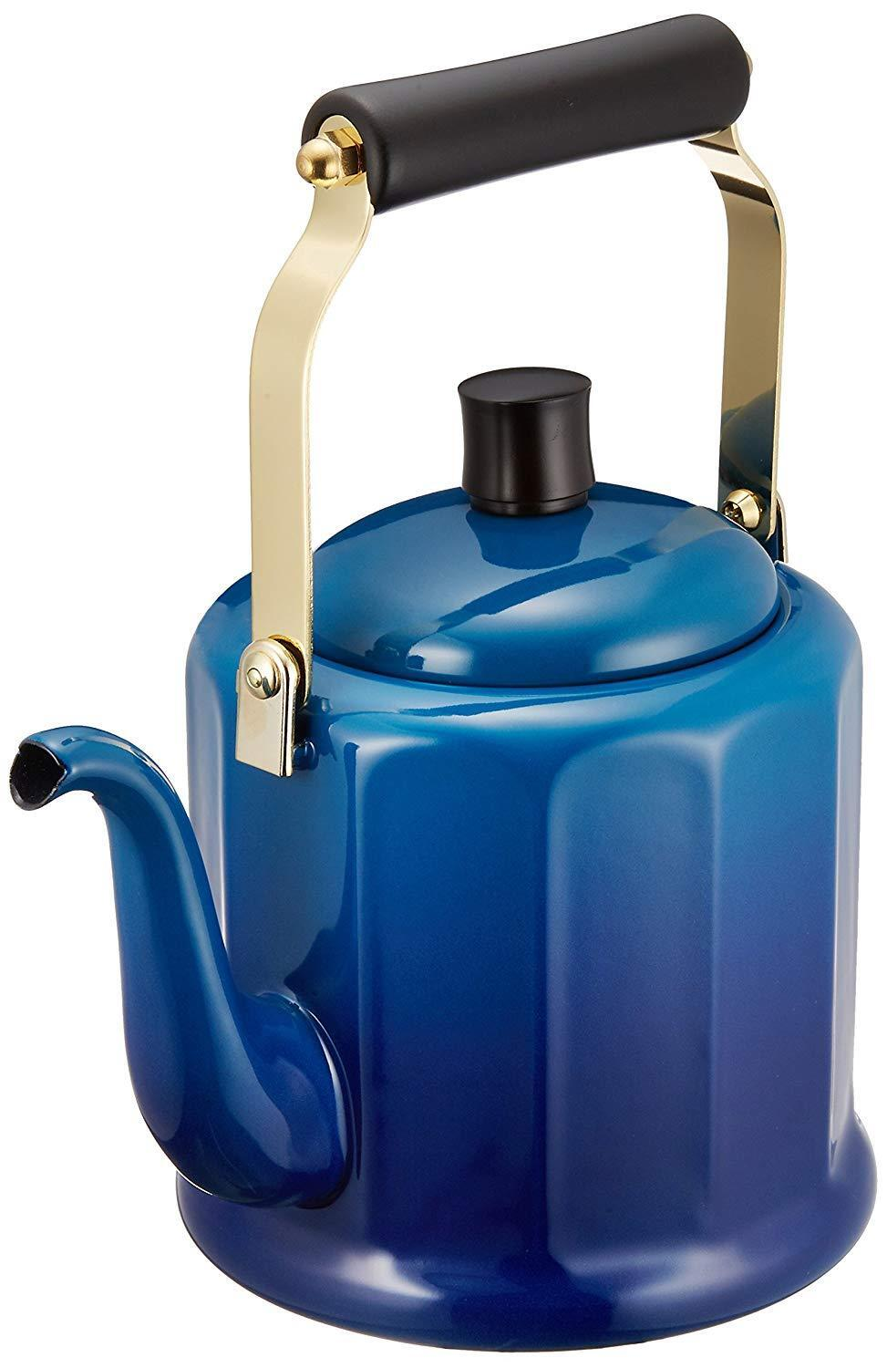 New Hor Noda High Quality Royal Classic Kettle 2L bleu IH 200V RCL-50KB JPN Wt