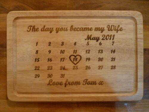 Personalizado 5º aniversario de boda 6pcs único de regalo de madera