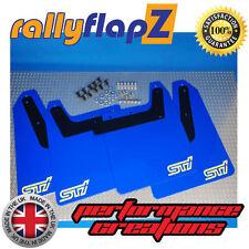 rallyflapZ SUBARU IMPREZA Blobeye(01-07)Mudflaps WR Blue STi (sml) White 4mm PVC