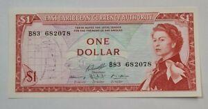 1965 EAST CARIBBEAN STATES $1 QE II (GEM UNC) [P-13g]