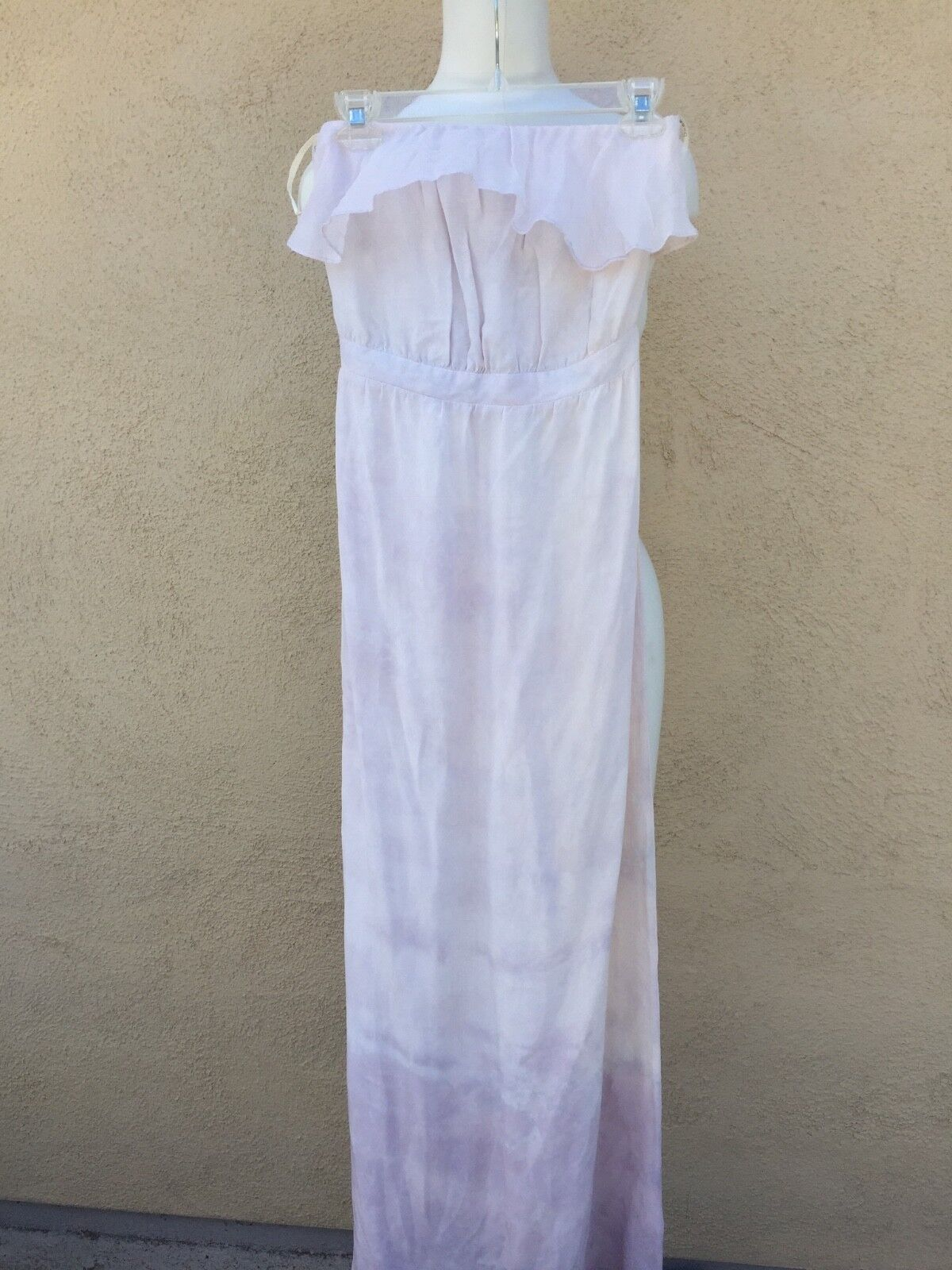 NWT GYPSY 05 PURPLE LAVENDAR SILK SILK SILK MAXI DRESS STRAPLESS NEW XS XSMALL  225 581c92