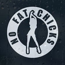 No Fat Chicks Funny Sexy Girls Women's Lady's Car Or Laptop Decal Vinyl Sticker