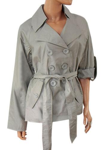 /'Sara Kelly By Ellos/' Ladies Roll Sleeve Mac Trench Coat