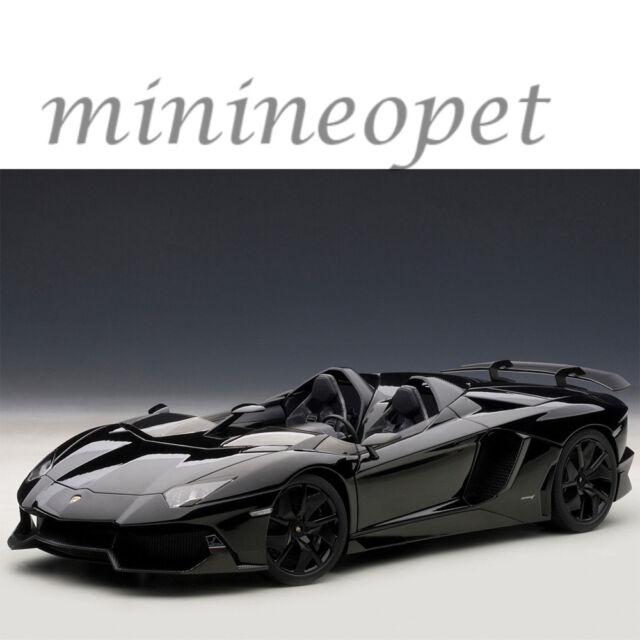 Lamborghini Aventador J Roadster Black 1 18 Diecast Model Car By