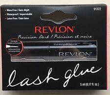 Revlon Precision Nero Ciglia Colla, senza lattice, Pennello Per Ciglia Adesivo 5ml