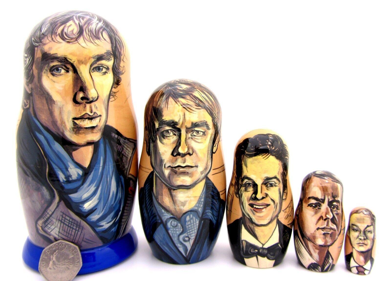 Nesting Muñecas Rusas Bbc Sherlock 5 Holmes Dr John Watson Moriarty Cumberbatch