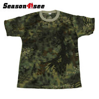 Men's Airsoft Tactical Soft Short Sleeve Moisture Wicking T-shirt Mr Camo L Size