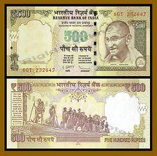 India 500 Rupees, 2015 P-New New Rupees Symbol (Gandhi) UNC