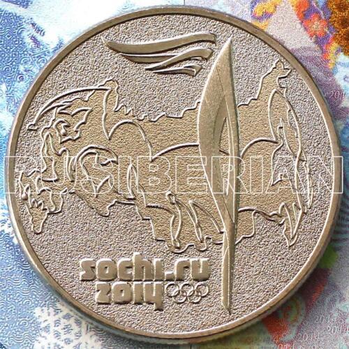 SET 4 RUSSIAN COINS 25 RUBLES 2014 OLYMPIC GAMES SOCHI Emblem /& Mascots #2