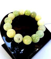 Bracelet Lithothérapie Minéraux Jade Citron Bijoux en Pierre Naturelle