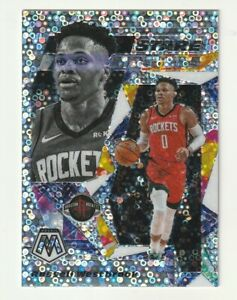 2019-20-Panini-Mosaic-Prizm-Silver-Fast-Break-Stare-Masters-Russell-Westbrook-SP