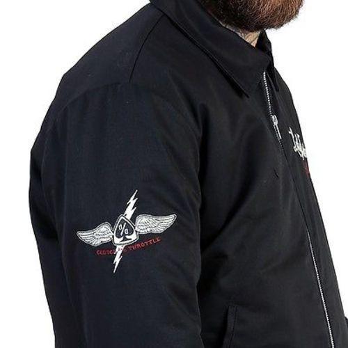 Death Punk Motociclista Uomo Foderata Giacca Lucky Chopper Racing 13 Motorino wa7qWF6