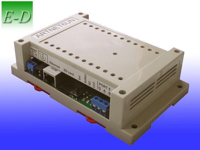 DMX 512 controller Art-Net, sACN (E1.31) 6 output & input ports ArtNet Ethernet