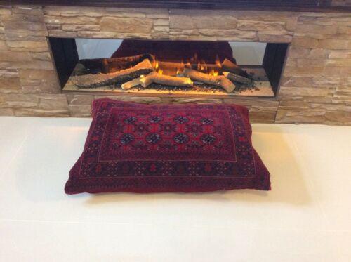 Afghan réel laine antique XL rouge Sol Coussin De handknotted Handmade Rug 40/%