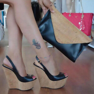 UK-Women-Wedge-High-Heels-Slingback-Sandals-Platform-Open-Toe-Buckle-Strap-Shoes