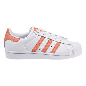 Details about Adidas Superstar W Women's Shoes Footwear White-Chalk Coral-Off White cg5462