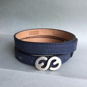 "Escada Sport  Dark Blue Leather Belt , L , size 32"" - 36"" Great Condition 85"