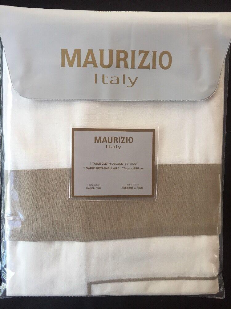 Maurizio Italie 100% coton 67  X1 08  (170 cm x 108 cm) Nappe Crème Beige