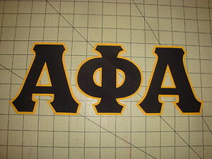 image is loading alpha phi alpha fraternity no sew 5 inch