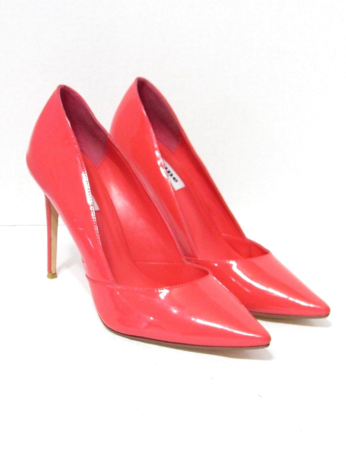 DUNE LONDON Rosa Leather Leather Leather Patent Classic Pumps Heel schuhe SZ 40  10 88e84a