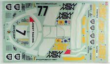 Tamiya 9495060 RC Newman Porsche 956 (RM Mk.7) ORIGINAL Sticker/Decal 58052 NIP
