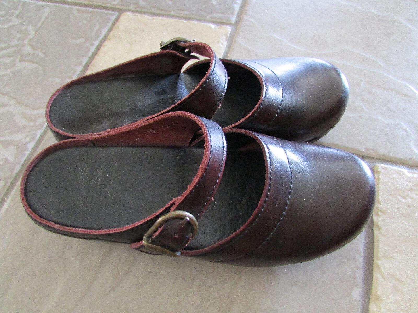 Dansko Mulas Zuecos Mocasín Cuero Zapatos para mujer 37 6-6.5 Cuero Mocasín Slip on Free SHP 20056f