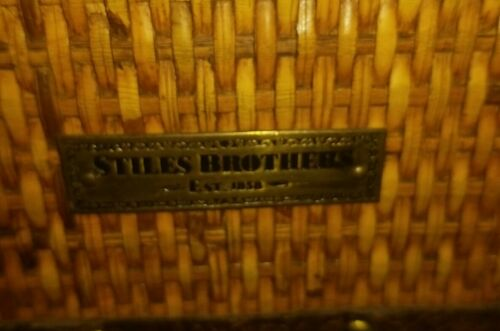 Stiles Brothers Rattan Leather Vanity Case