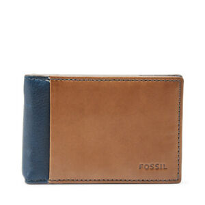 Fossil Men/'s Tate Rfid Money Clip Bifold Leather Wallet