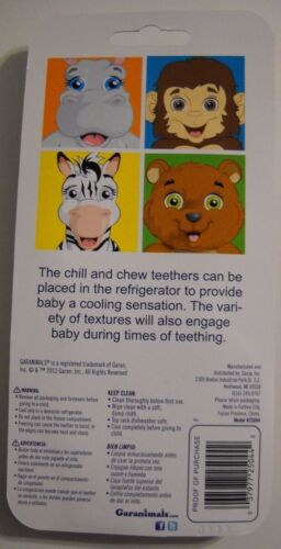 GARANIMALS CHILL AND CHEW CUPCAKE SHAPED TEETHER/'S NEW IN PACKAGE 3 MONTHS