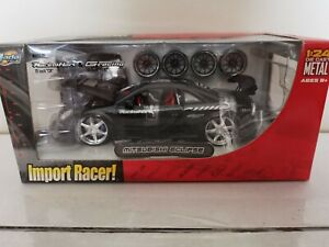 NEW-SEALED-Jada-Import-Racer-MITSUBISHI-ECLIPSE-Black-1-24-NIB-VHTF