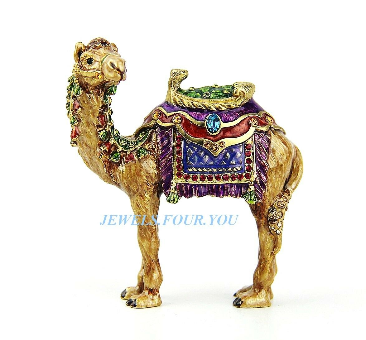 JAY STRONGWATER JEWEL DUNCAN CAMEL FIGURINE SWAROVSKI NEW ORIGINAL BOX