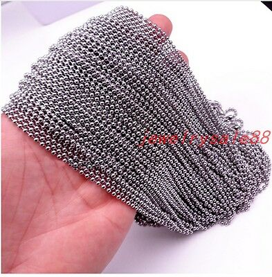 """1.5//2//2.4//3//4//5//6MM Wholesale Stainless Steel DIY Ball Chain Necklace 16-36/"""""""