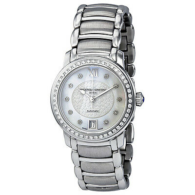 Frederique Constant Mother of Pearl Dial Stainless Steel Ladies Watch