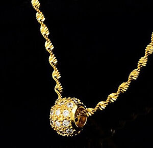 18k-Gold-Necklace-Womens-Large-Snake-Link-20-034-Chain-w-Gift-Pkg-D714A
