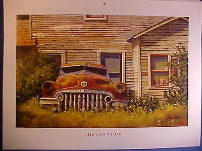 33 truck barn junkyard Dale Klee art 1930,1931 Model A,1932,1933,1937,1940 Ford