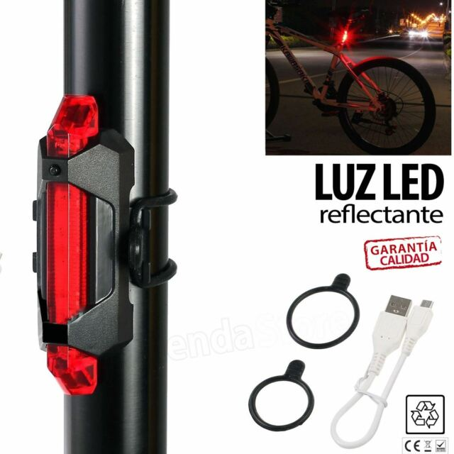 Luz Roja señalizacion BICI 5 LED reflectante con bateria Luz LED resistente agua