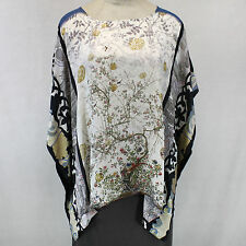 NEW NWT Citron Clothing Plus Size Drama Kimono Silk Tunic Blouse O/S (1X 2X 3X)