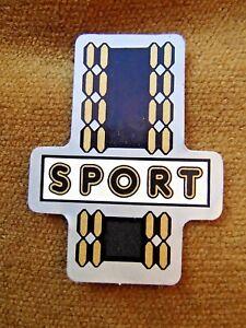 Art Deco Sport Head Badge Cycle Cadre Autocollant Environ 50 Mm De Long Rare Transfert-afficher Le Titre D'origine