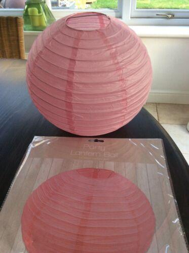 Paper Lantern Ball Paper DecorationWedding Valentine Baby Shower 25cm PINK