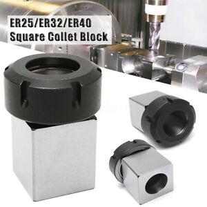 ER25-ER32-ER40-Quadratisch-Spannzange-Block-Feder-Chuck-Halter-Drehbank-CNC-H