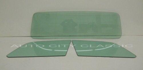 55-56 Ford Thunderbird T-Bird Original Green Tint Door Glasses and Back Glass