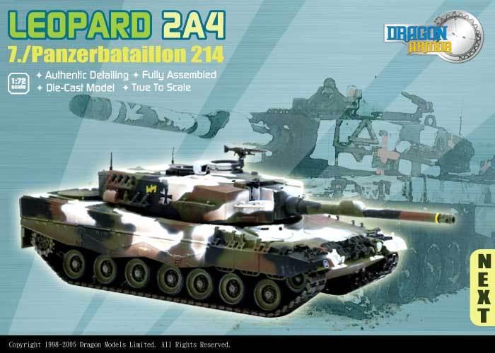 Armadura de dragón 1 72, EXTRA rara alemán Leopardo 2A4, Art.  60133