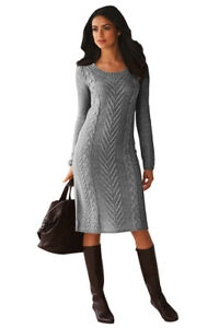2f62230cdebd Image is loading Women-s-Hand-Knitted-Sweater-Dress-Available-In-