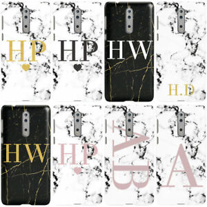 DYEFOR-PERSONALISED-PINK-MARBLE-INITIALS-PHONE-CASE-COVER-FOR-NOKIA